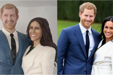A Woman Made Life-Size Meghan and Harry Cakes - They Took 250 Hours and 110 Pounds of Icing!