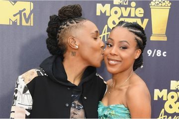 Lena Waithe and Her Fiancée Get All Loved Up at the MTV Movie and TV Awards