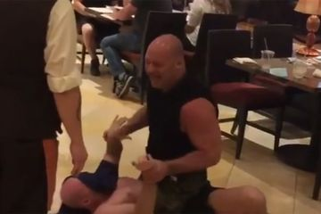 UFC fighter takes down 'drunk' person at restaurant