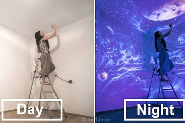 These immersive, glow-in-the-dark murals are for indoor stargazing (Video)