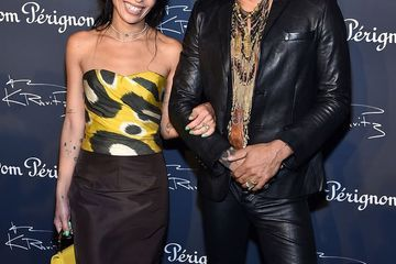 Zoë Kravitz Couldn't Stop Smiling With Dad Lenny Kravitz During His Exhibition Opening