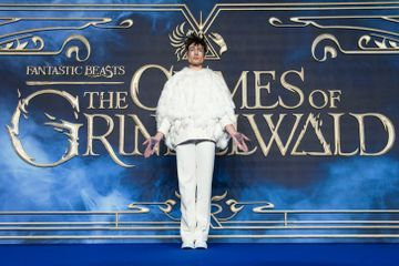 Oh My Godric! Ezra Miller Dressed as Hedwig For the Fantastic Beasts 2 Premiere