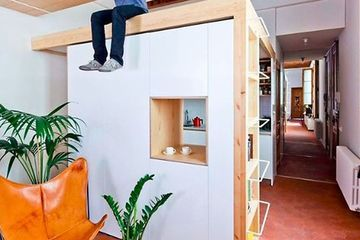 Apartment renovation comes with kitchen-in-a-box & floating desk