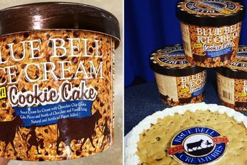 Blue Bell's Cookie Cake Ice Cream Is Packed With Chocolate Chips and Vanilla Icing Swirls