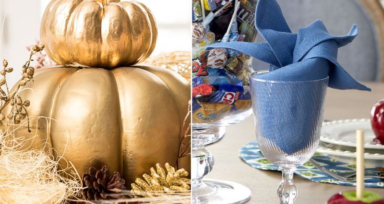 A touch of bling will make your Thanksgiving table sing